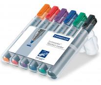 Marker pentru flipchart, 2.0mm, 6 culori/set, STAEDTLER Lumocolor 356