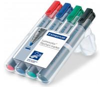 Marker pentru flipchart, 2.0mm, 4 culori/set, STAEDTLER Lumocolor 356