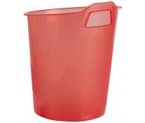 Cos de gunoi, 15L, rosu transparent, FELLOWES Green2Desk