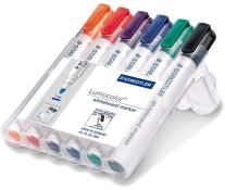 Marker pentru tabla (whiteboard), 2.0mm, 6 culori/set, STAEDTLER Lumocolor 351