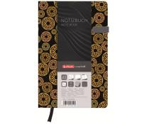 Bloc notes A5 dictando, coperta tare lucioasa cu magnet, 96 file, HERLITZ My Book Classic Circle