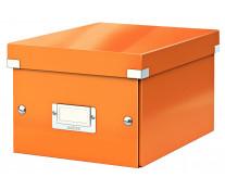 Cutie pentru arhivare, 216 x 160 x 282mm, portocaliu, LEITZ Click & Store