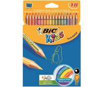 Creioane colorate, 1/1, 18 culori/set, BIC TROPICOLORS2