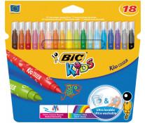 Carioci, 18 culori/set, BIC KiDS KID COULEUR