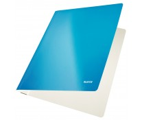 Dosar din carton, cu sina, 250 g/mp, albastru, LEITZ WOW