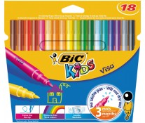 Carioci, 18 culori/set, BIC KiDS Visa