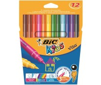 Carioci, 12 culori/set, BIC KiDS Visa
