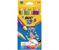 Creioane colorate, 1/1, 12 culori/set, BIC EVOLUTION CIRCUS