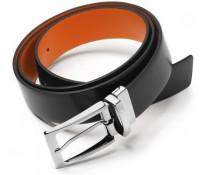 Curea neagra/portocaliu, din piele de bovina, FEDON Belts Cint-Double-U12
