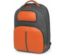 """Troller pentru laptop 15"""", din piele de bovina, portocaliu cu gri, FEDON Web-Trolley-Bp"""