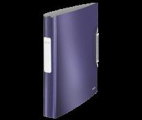 Caiet mecanic, A4, 4 inele, albastru-violet, LEITZ Active Style SoftClick