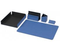 Set birou din imitatie piele, 5 piese, albastru, FEDON 1919 Charme Scrittoio