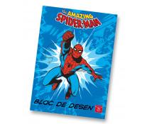 Bloc de desen, A4, 160 g/mp, 16 file, PIGNA Premium Spiderman
