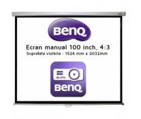 Ecran de proiectie pentru perete, manual, 100inch, 203.2 x 152.4cm, 4:3, BENQ