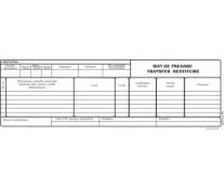 Bon predare transfer restituire, 1/2A4, tipar fata/verso, 100 file/carnet