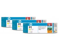 Cartus, yellow, nr. 91, 3 cartuse/set, HP C9485A