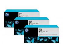 Cartus, matte black, nr. 771, 3 cartuse/set, HP CR250A