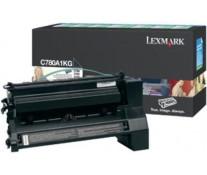 Toner, black, LEXMARK C780A1KG