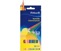 Creioane colorate, forma hexagonala, 1/1, 12 bucati/set, PELIKAN
