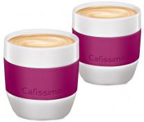 Set cati Caffe Crema, portelan, 125ml, 2 cani/set, berry, TCHIBO Cafissimo MINI