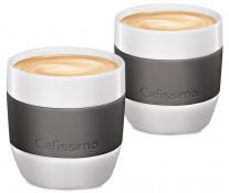 Set cati Caffe Crema, portelan, 125ml, 2 cani/set, gri, TCHIBO Cafissimo MINI