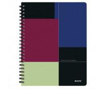 Caiet de birou, cu spira, coperta PP, A4, negru-violet, dictando, LEITZ Executive Get Organized