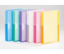 Clasor pentru 240 carti de vizita, roz semitransparent, TARIFOLD