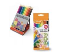 Creioane colorate, cutie tip suport, 12 culori/set, PIGNA Y-Plus+