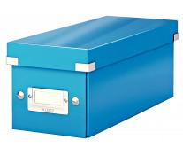Cutie pentru CD-uri, albastru, LEITZ Click & Store