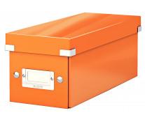 Cutie pentru CD-uri, portocaliu, LEITZ Click & Store