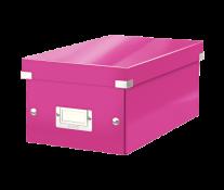 Cutie pentru DVD-uri, roz, LEITZ Click & Store