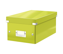 Cutie pentru DVD-uri, verde, LEITZ Click & Store