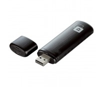 Adaptor USB Wireless, Dual-Band 300 + 867Mbps, negru, D-LINK AC 1200 DWA-182