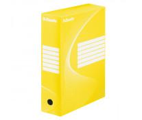 Cutie pentru arhivare, 345 x 245 x 100mm, galben, ESSELTE Boxycolor VIVIDA
