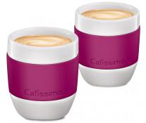 Set cati Espresso, portelan, 40ml, 2 cani/set, berry, TCHIBO Cafissimo MINI