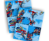 Etichete scolare, 40 buc./set, SUPERMAN