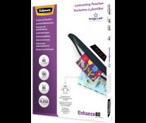 Folie laminare A5, 80 microni, 100 folii/cutie, FELLOWES Enhance80