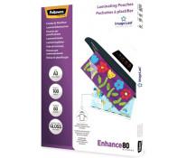 Folie laminare A3, 80 microni, 100 folii/cutie, FELLOWES Enhance80