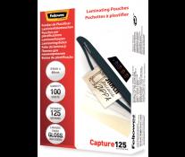 Folie laminare 54 x 86mm, 125 microni, 100 folii/cutie, FELLOWES Capture125