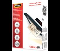 Folie laminare A6, 125 microni, 100 folii/cutie, FELLOWES Capture125