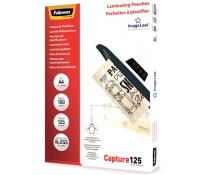 Folie laminare A4, 125 microni, 100 folii/cutie, FELLOWES Capture125
