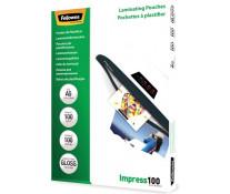Folie laminare A5, 100 microni, 100 folii/cutie, FELLOWES Impress100