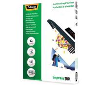 Folie laminare A4, 100 microni, 100 folii/cutie, FELLOWES Impress100