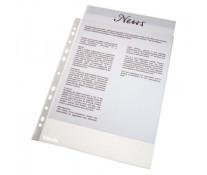 File din plastic, A4, transparent, 46 mic., 100 buc/set, ESSELTE Standard