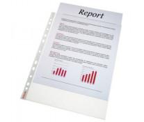 File din plastic, A4, transparent, 75 mic, 100 buc/set, ESSELTE Standard