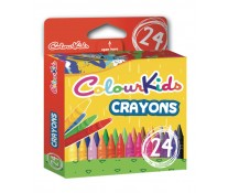 Creioane cerate, 24 culori/set, PIGNA ColourKids