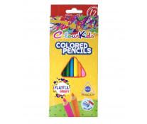 Creioane colorate, triunghiulare, 12 culori/set, PIGNA ColourKids
