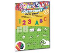 Hartie glasata, A4, 12 culori/set, PIGNA ColourKids