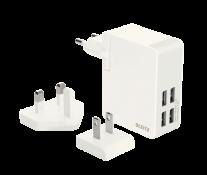 Incarcator USB pentru perete, 24W, alb, LEITZ Complete
