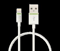 Cablu de date - USB, 30 cm, alb, LEITZ Complete Lightning